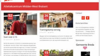 Screenshot van Atletiekcentrum Midden West-Brabant.