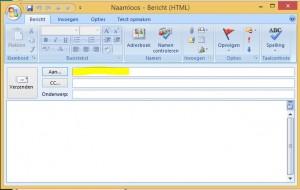 Outlook 2003 Nieuw e-mailbericht