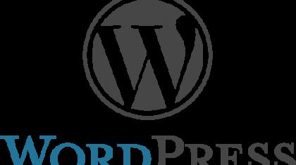Logo van Wordpress.