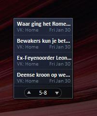 Windows 7 gadgets zoals ze eruit moeten zien.