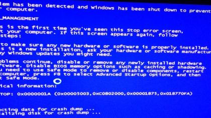 Screenshot bsod memory_management foutmelding.