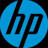 Logo van Hewlett Packard.
