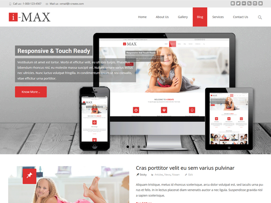 WordPress thema I-max.