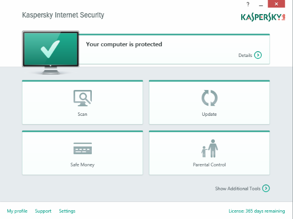 Kaspersky Internet Security 2015.