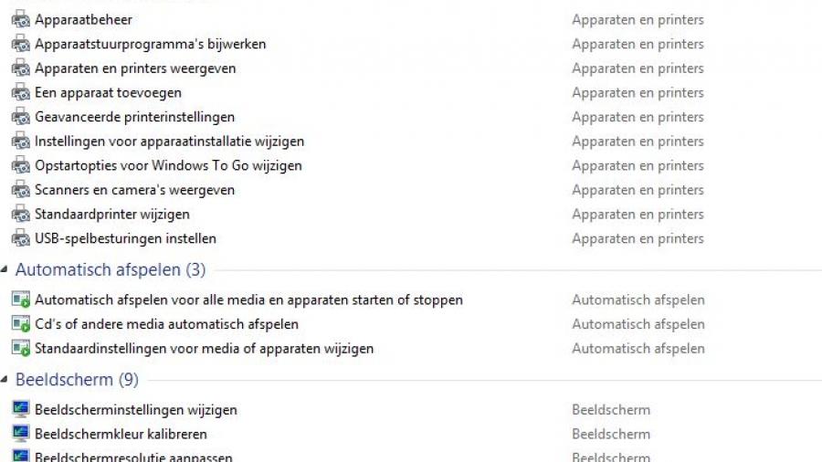 Windows GodMode.