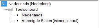 Overzicht van talen in Windows 7 die gebruikt worden voor de spellingscontrole van Word.