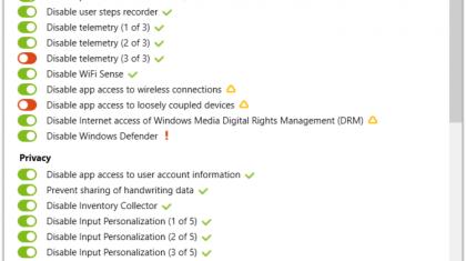 Privacy beheren met Shutup10.