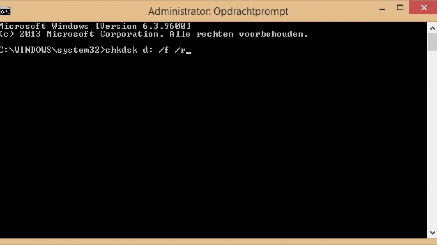Chkdsk voor Windows.