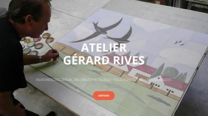 Screenshot van homepage www.ateliergerardrives.nl.