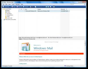Windows Vista Mail.
