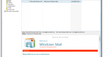 Windows Vista Mail.