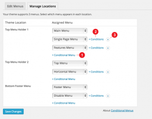 WordPress Conditional Menus plug-in.