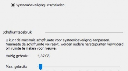 windows10_systeemherstel_uitgeschakeld