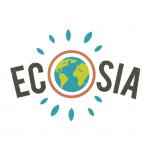 Logo van Ecosia, de zoekmachine waarmee je bomen kan planten.
