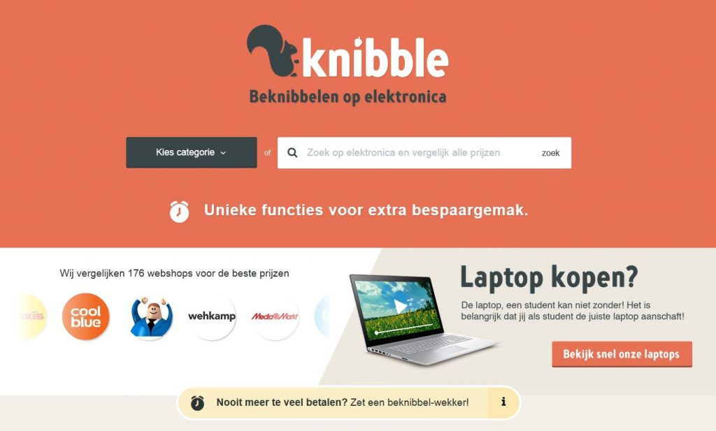 Laptop kopen? Bezoek dan vergelijkingsswebsite Knibble.nl.