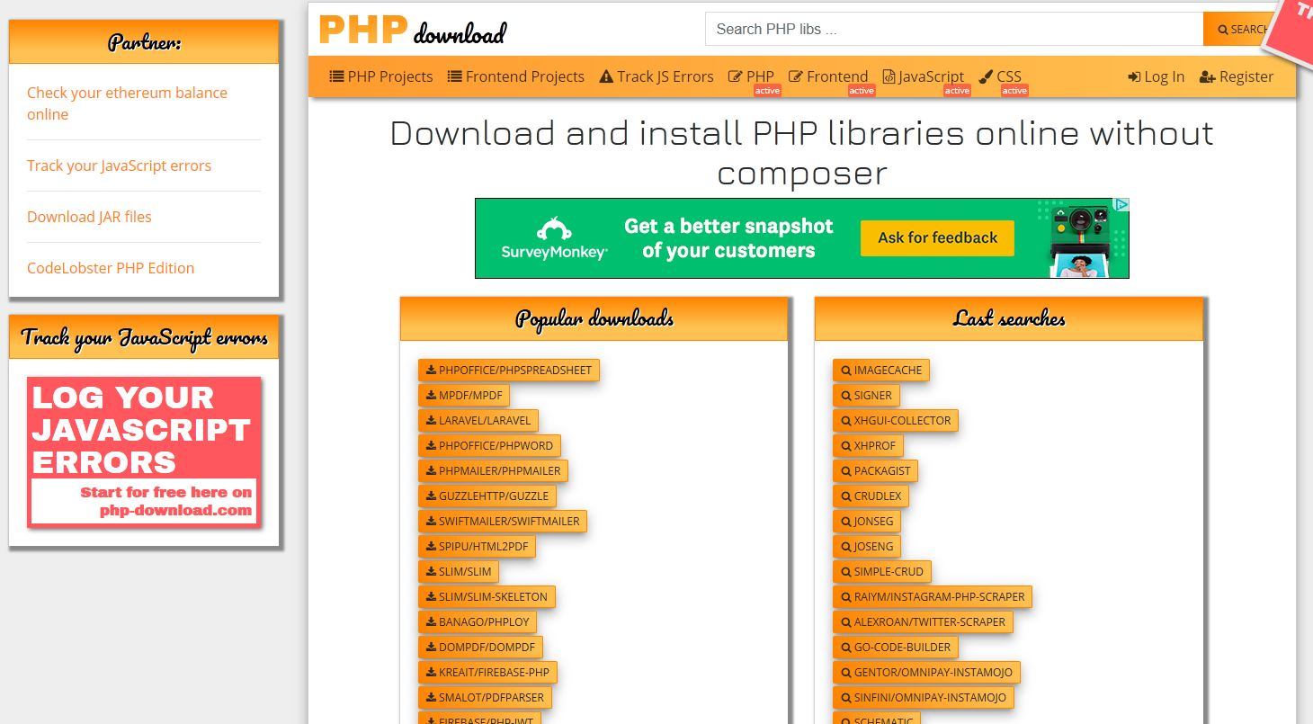 Download composer packages op php-download.com.