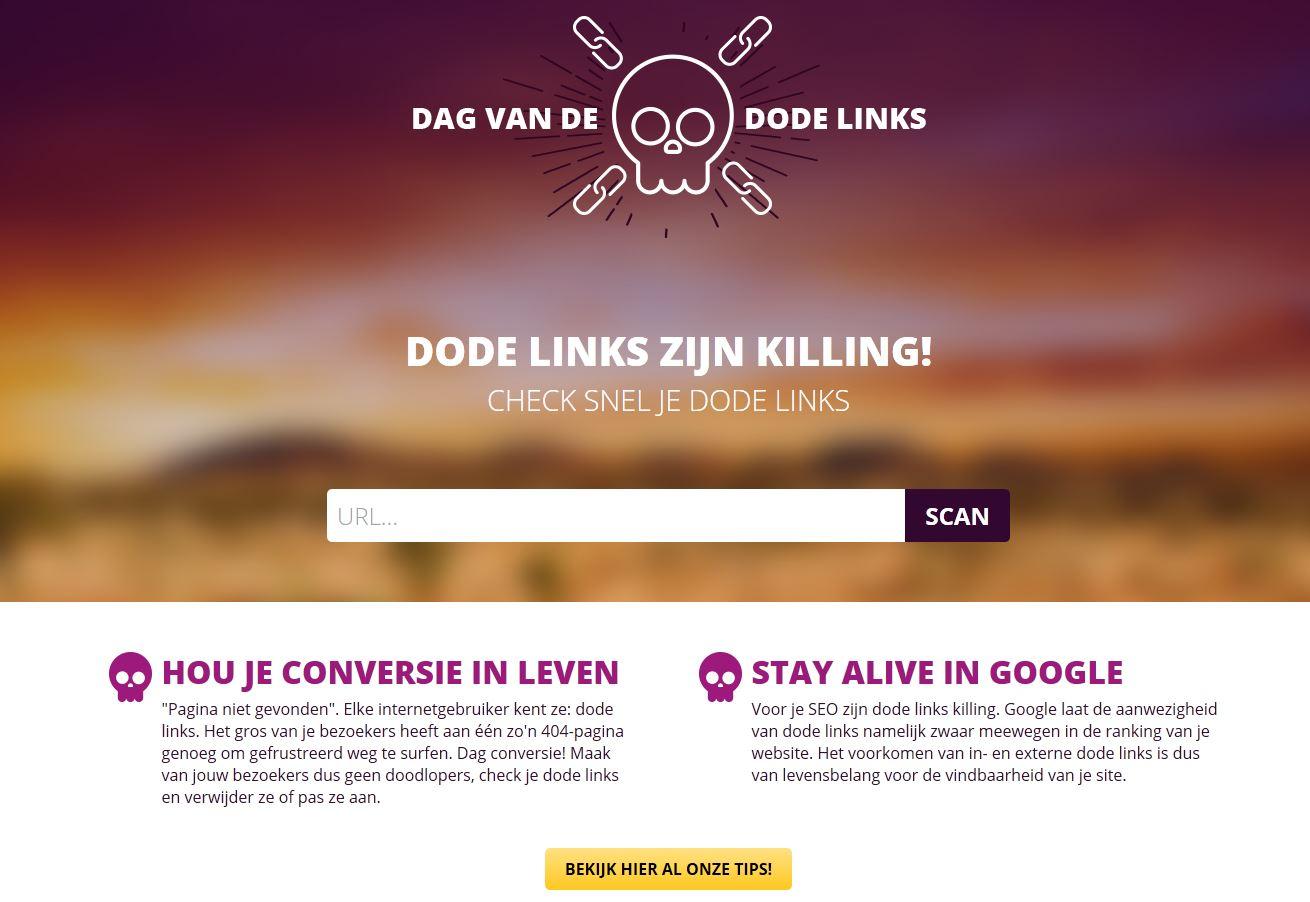 Scan jouw website op dode links of broken hyperlinks.