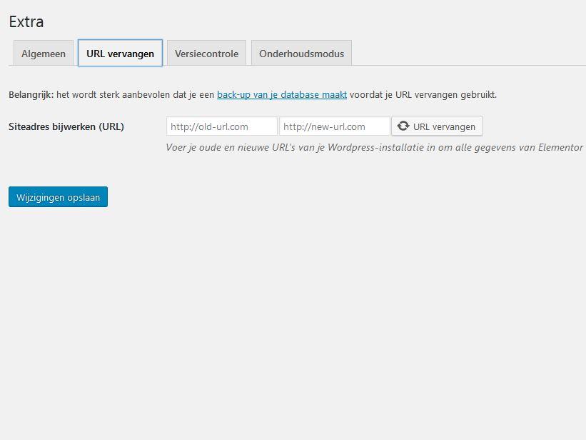 URL vervangen met Elementor.