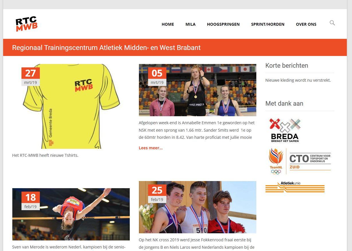 Oude homepage van rtc-mwb.com