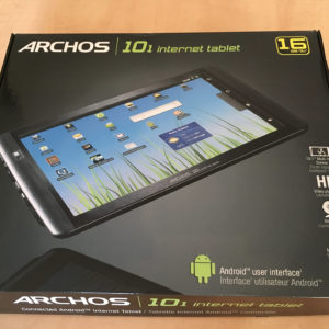 Doos van Archos 101 Internet Tablet.
