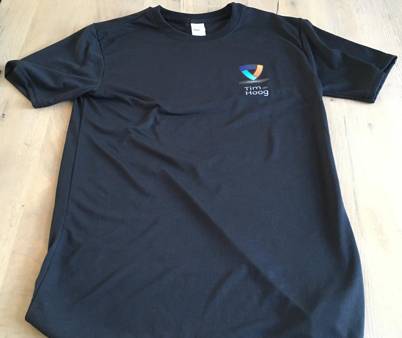 Timdehoog.nl sport T-shirt voorkant.