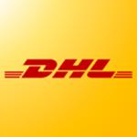 Logo van DHL.