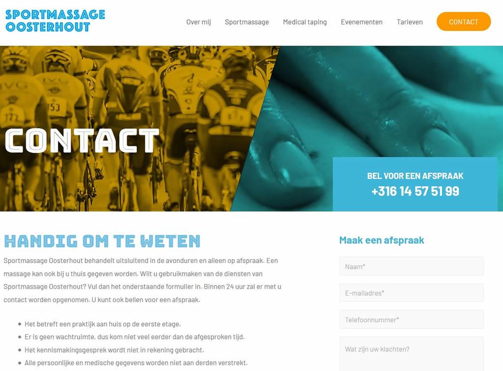 Contactpagina - Sportmassageoosterhout.nl