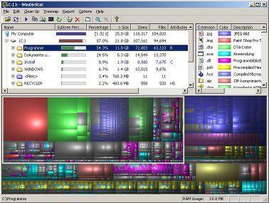 WinDirStat helpt bij het opschonen van jouw computer.