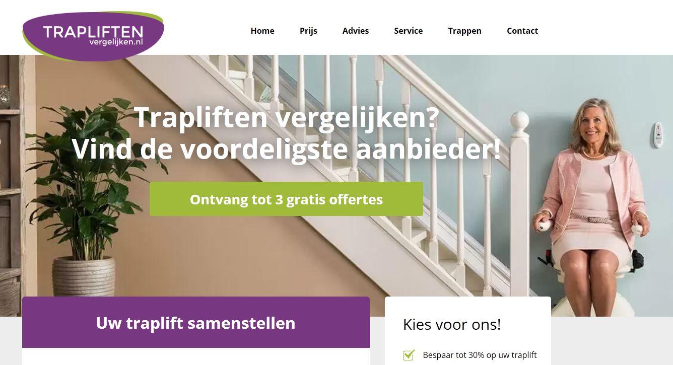 Vergelijk offertes voor trapliften op www.trapliftenvergelijken.nl.