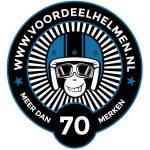 Logo van Voordeelhelmen.nl webshop voor motorkleding en helmen.