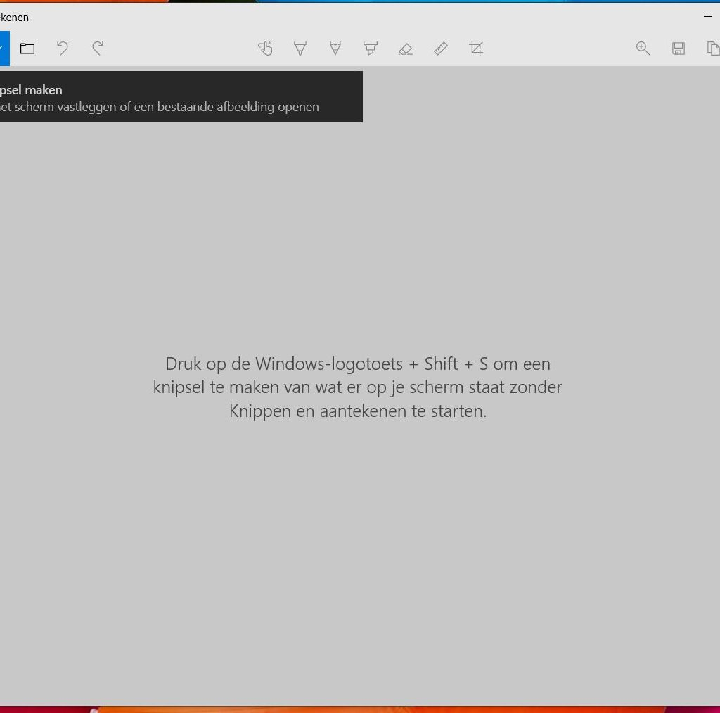 Windows 10 Knippen en aantekenen app voor screenshots.
