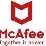 Het logo van McAfee.