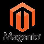Logo van Magento Webshop software. Gratis of betaald beschikbaar.