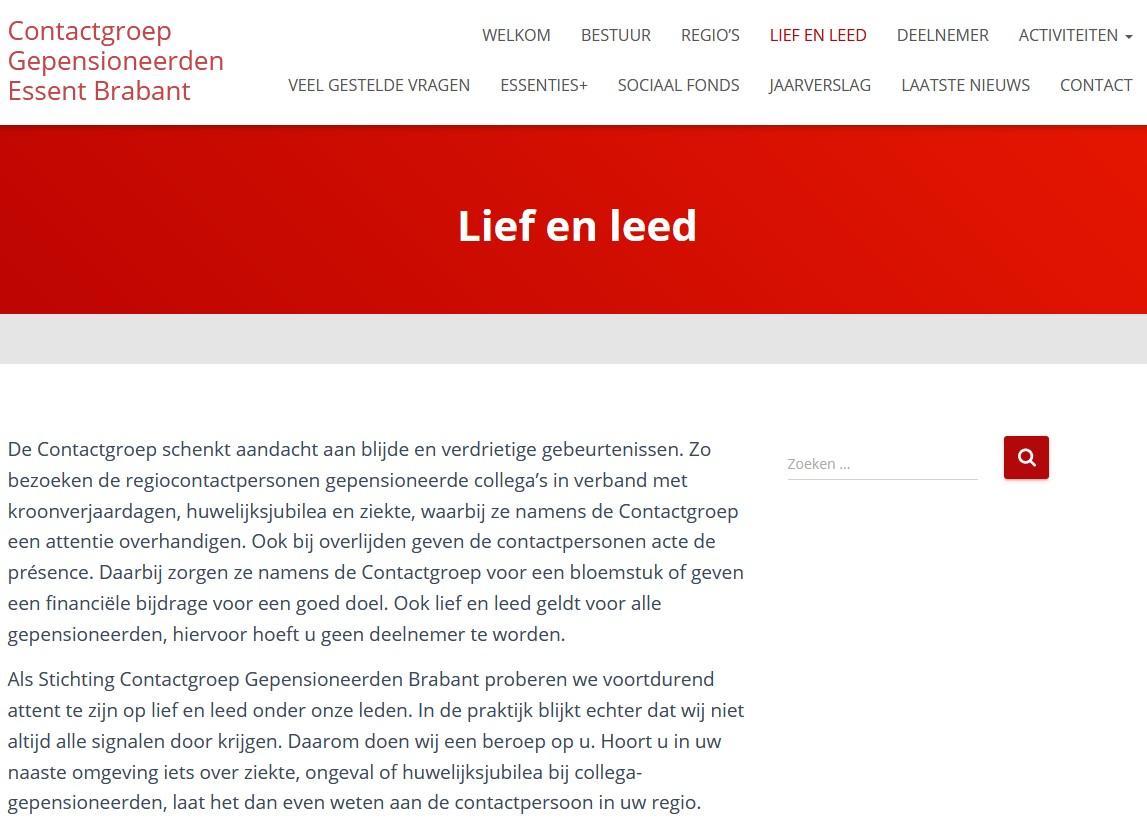 Lief en leed pagina van Cgeb.nl.